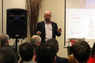 Albert Riba durant la xerrada // Jose Polo