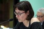 Sílvia Guillén, portaveu d'ERC, durant una intervenció al ple municipal // Jose Polo