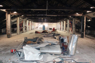 Imatges de la tercera planta del Molí, on anirà part de la biblioteca // Jose Polo