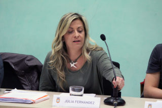 Júlia Fernández finalitzant la seva intervenció // Jose Polo