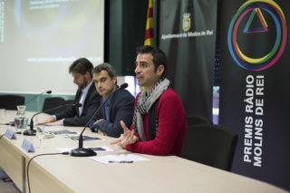 Romeu, Casals i Paz durant la roda de premsa // Ajuntament de Molins de Rei