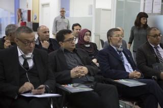 Els alcaldes marroquins durant la visita al Centre d'Ocupació García-Nieto // Ajuntament de Molins de Rei