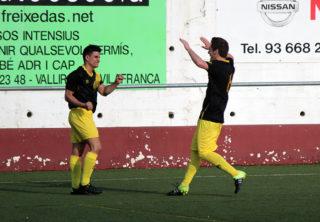 Els jugadors de la Coope celebrant un dels gols al Josep Raich // Jose Polo