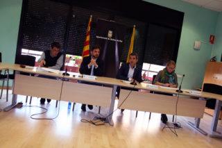 Zaragoza, Paz, Casals i Folquér en roda de premsa // Jose Polo