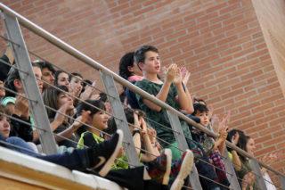 L'afició animant l'equip després del partit // Jose Polo