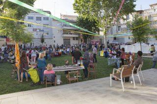 Un instant de la Festa de la Solidaritat al Pati del Palau // Ajuntament de Molins de Rei