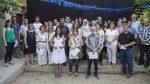 Joan Ramon Casals i Xavi Paz. amb alguns participants del Voluntariat per la Llengua // Ajuntament de Molins de Rei