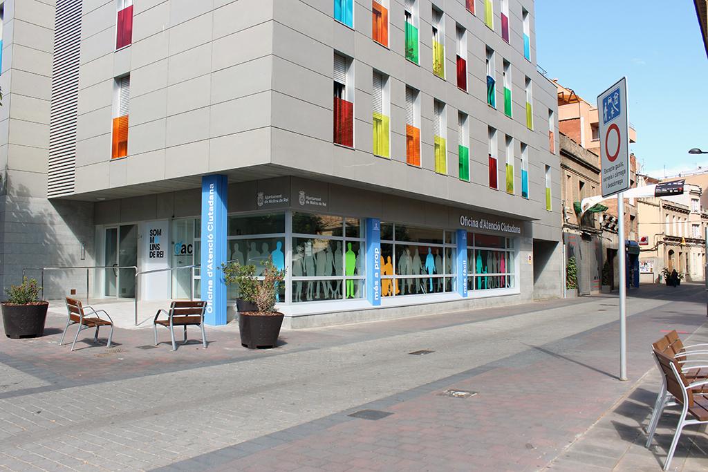 La nova OAC se situa al carrer Rubió i Ors 2-4, al davant del Pati del Palau // Jose Polo