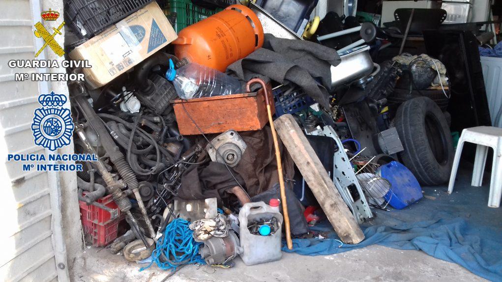 Imatge del polígon industrial il·legal desmantellat // Guardia Civil