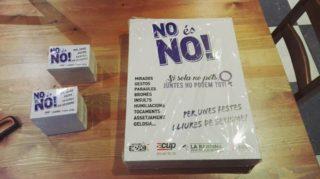 """Material imprès de la campanya """"No és no"""" que es repartirà durant les festes // Casal La Barrina"""