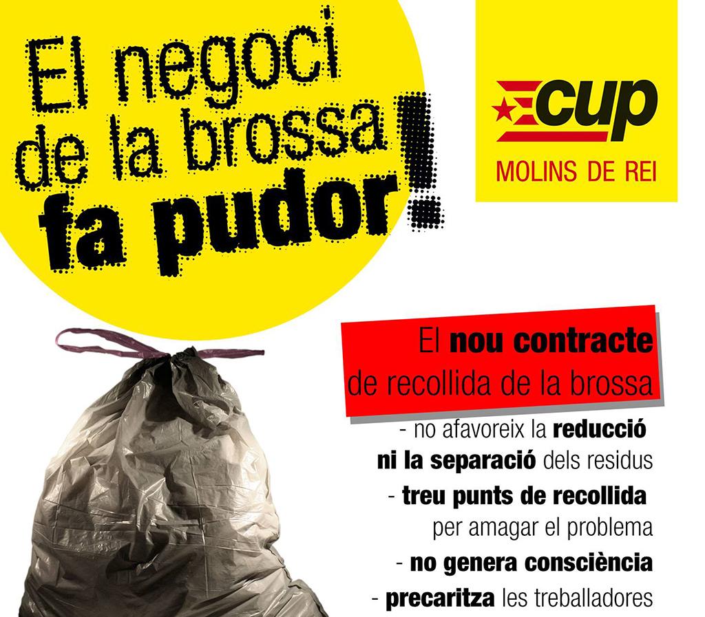 Imatge de la campanya // CUP Molins de Rei
