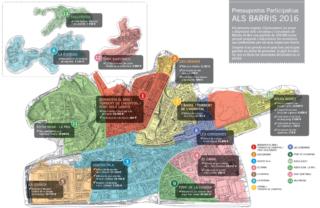 Mapa de les actuacions a les que la sociovergència s'ha compromès a finalitzar abans de final d'any // Ajuntament de Molins de Rei
