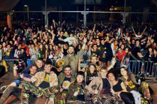Els Kpmba't durant l'actuació // Facebook Komba't