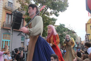 Quatre dels gegants bascos representaven éssers mitològics del país // Jordi Julià