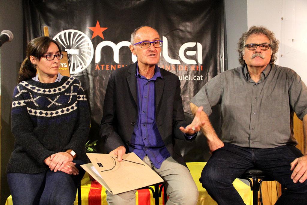 Sílvia Guillén, Josep Cruanyes i Joan Tardà en l'acte d'homenatge d'ERC a Lluís Companys pels 76 anys de la seva mort // Jordi Julià