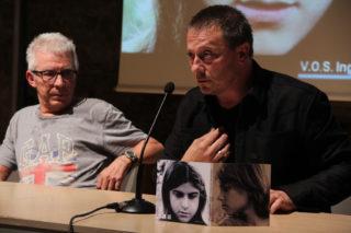 """Dani Andreu va presentar el DVD de """"Pensamientos de Nil"""" acompanyat de Joan Domènech (a l'esquerra) // Jordi Julià"""