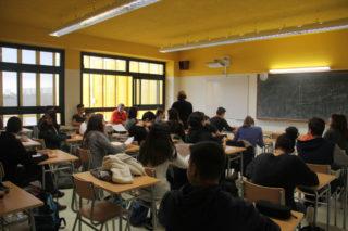 Els professors estan satisfets amb l'aïllament quan no s'obren les finestres // Jordi Julià
