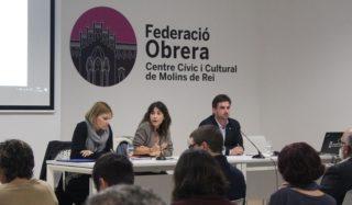 Moret, Sánchez i Paz durant l'acte // Jose Polo
