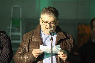 Albert Palet fent el seu últim discurs com a president // Jose Polo