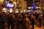 Més de cent persones han participat a la concentració organitzada per l'ANC // Jordi Julià
