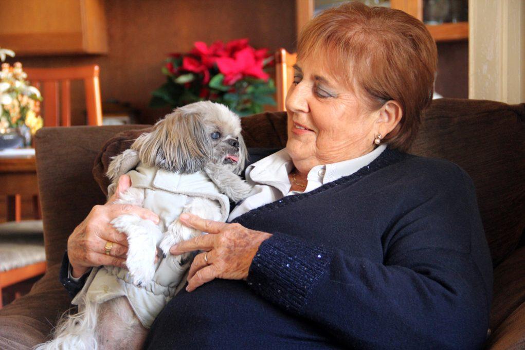 Fem l'entrevista al menjador de casa seva, acompanyats del seu gos en tot moment // Jordi Julià