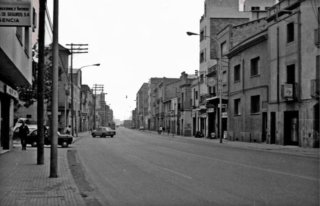 Als anys 70 la carretera es va quedar amb dos carrils per sentit però amb poc trànsit per la construcció de l'autopista // Arxiu Josep Raventós Cartró