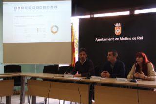 Xavi Paz, Joan Ramon Casals i Laura Soto han presentat els resultats // Jordi Julià