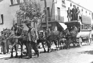 Commemoració de la diligència Igualada-Barcelona del 1963 // Arxiu Josep Raventós Cartró