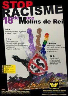 La manifestació de Molins de Rei té el lema Stop Racisme // UCFR