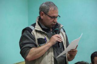 Pedro Royo va exposar la situació de l'ADF al ple municipal de febrer // Jordi Julià