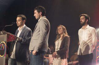 Els director, Jose Polo i David Guerrero; la comercial, Eva Cervera; i el redactor, Jordi Julià // Ajuntament de Molins de Rei