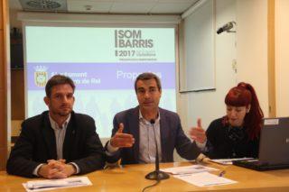 Xavi Paz, Joan Ramon Casals i Laura Soto a la presentació de les propostes triades // Jordi Julià
