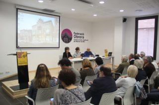 Una trentena de membres de les entitats adherides van participar a la presentació de la taula, que es va fer a Molins de Rei // Jordi Julià