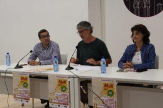 Jaume Soler (President d'Òmnium Baix Llobregat), Jordi Romeu (representant de l'ANC a MdR pel Sí) i Lígia Espejo (Secretària Nacional del Baix Llobregat de l'ANC) van presentar la plataforma a la Federació Obrera // Jordi Julià