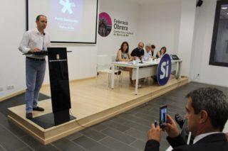 Els regidors de CDC i l'alcalde van elogiar els dos anys de legislatura en un acte // Jordi Julià