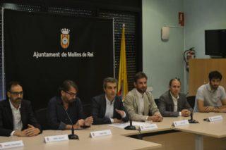 El conveni va ser signat per l'Ajuntament de Molins de Rei i la UGT // David Bueno