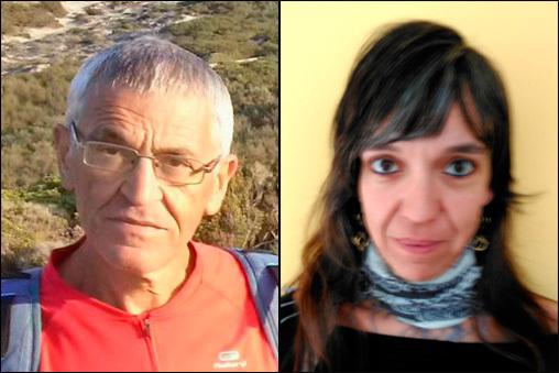 Josep Lluís Moner (Plataforma cívica per la defensa de Collserola) i Laia Izquierdo (Molins en Transició)