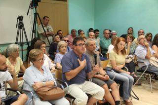 Els veïns van protagonitzar el ple de juny de 2017, on es va debatre una moció que demanava diàleg // Jordi Julià