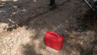 S'ha trobat un bidó amb restes de gasolina // ADF