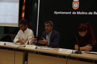 Xavi Paz, Joan Ramon Casals i Laura Soto en la presentació del procés participatiu del pla // Jordi Julià