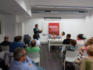 Xavi Paz va reflexionar sobre el paper del PSC amb l'1-O en una assemblea oberta // Jordi Julià