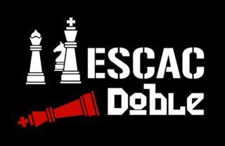 El cartell de l'obra Escac Doble // Filagarsa