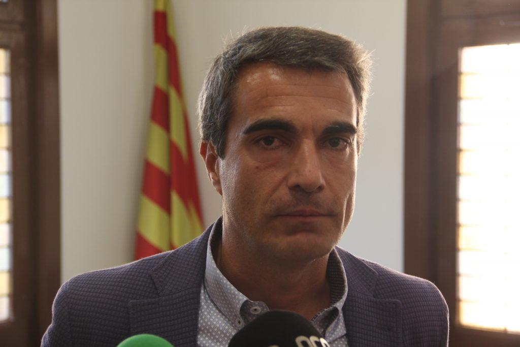 Joan Ramon Casals, aquest dimecres, valorant les citacions // Jordi Julià