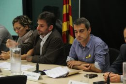 Xavi Paz (PSC) i Joan Ramon Casals (CDC), durant el debat sobre el 155 // Jordi Julià