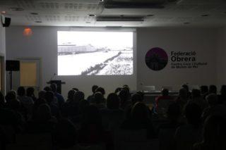 El documental 'El cinturón rojo' es va projectar a la Federació Obrera de Molins de Rei // Jordi Julià