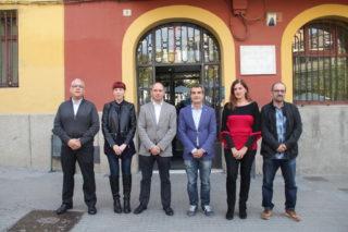 El nou govern està format per Anton Pedrola, Laura Soto, Ramon Sánchez, Joan Ramon Casals, Carme Madorell i Marcel Marín // Jordi Julià