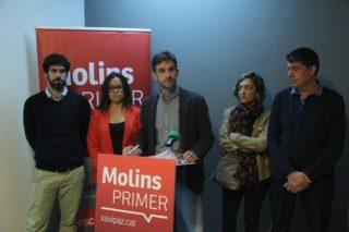 Els 5 regidors del PSC han valorat el trencament del pacte en roda de premsa // Jordi Julià