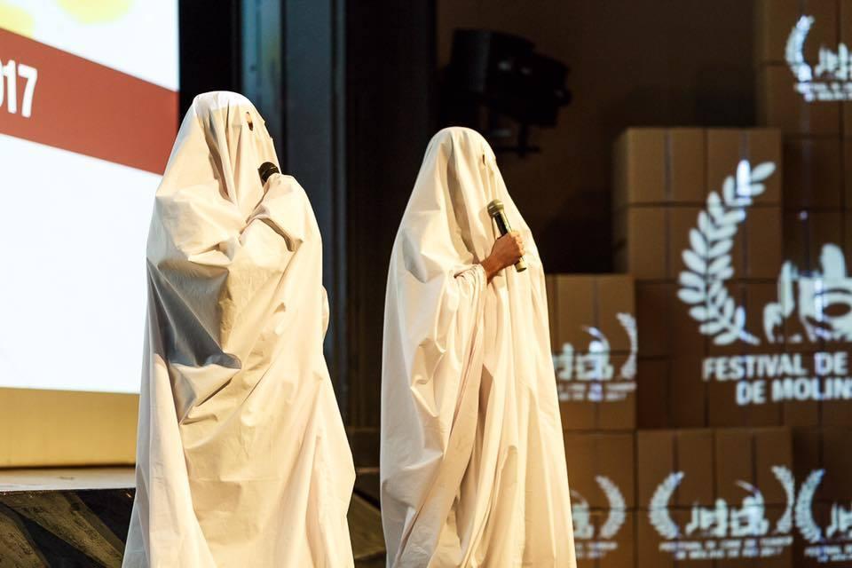 La cerminònia d'entrega dels premis va tenir ambientació per l'ocasió // Festival de Cine de Terror de Molins de Rei