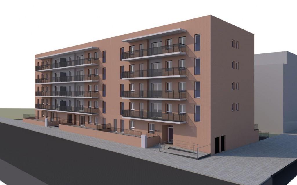 Projecció virtual de l'edifici, que estarà al carrer Mancomunitat i estrenarà el barri // Qualitat HS