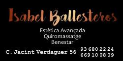 Isabel Ballesteros Estètica Avançada, Quiromassatge i Benestar. C. Javint Verdaguer, 56 Molins de Rei